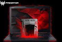 Игровые ноутбуки Acer Predator 15 и Predator 17 получили видеокарты Nvidia GeForce GTX 10