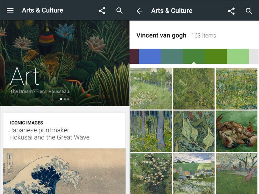Google выпустила мобильное приложение Arts & Culture