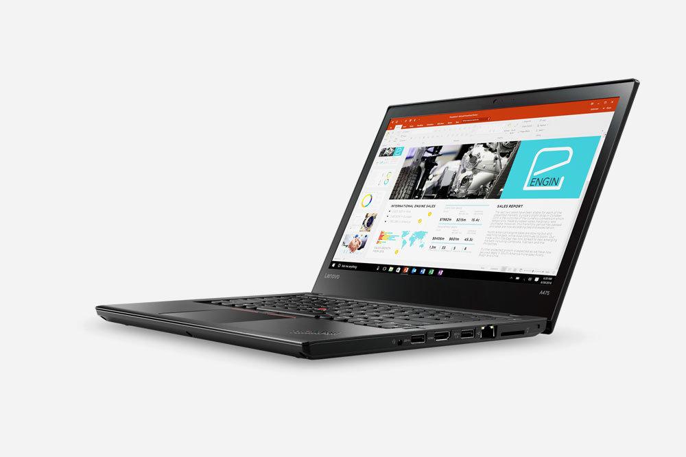 Lenovo представила ноутбуки ThinkPad A275 и A475 на базе AMD Pro