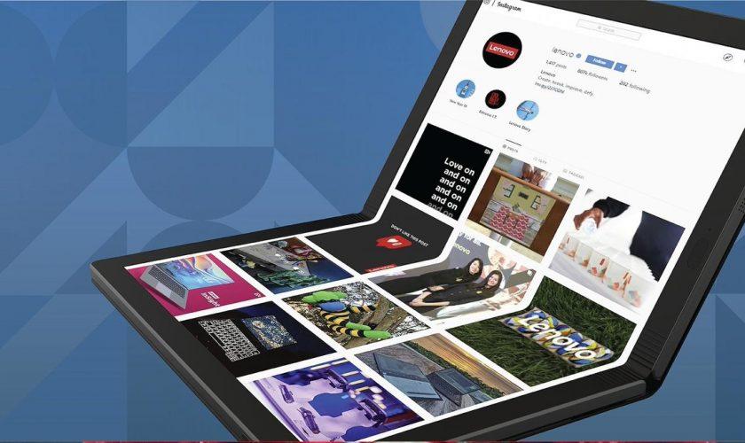 Lenovo представила первый компьютер с гибким дисплеем
