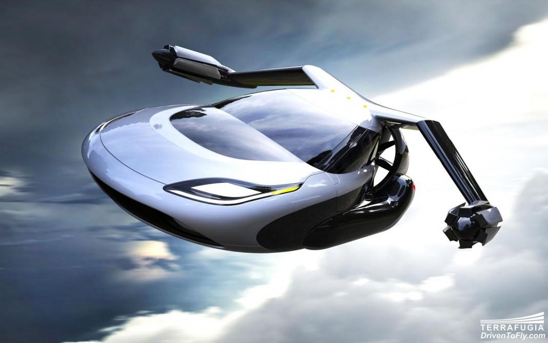 Самый необычный летающий автомобиль: Terrafugia TF-X