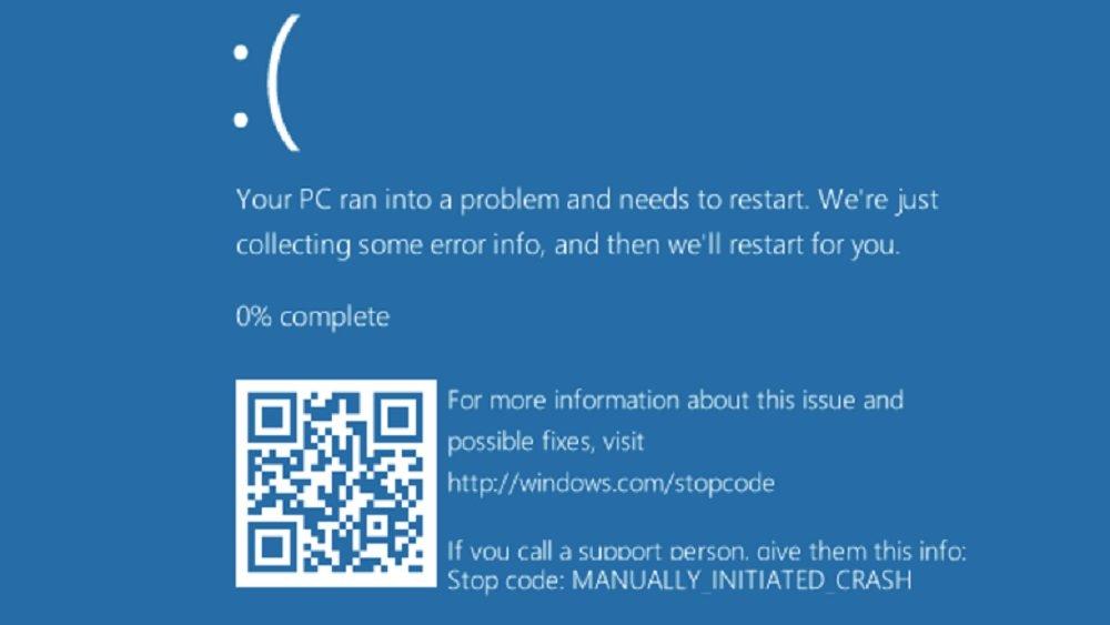 Microsoft добавила на «синий экран смерти» QR-код для помощи пользователям Windows 10