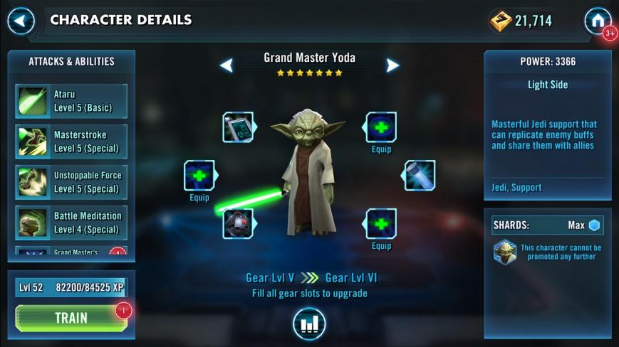 В Star Wars: Galaxy of Heroes появилась возможность играть за магистра Йоду