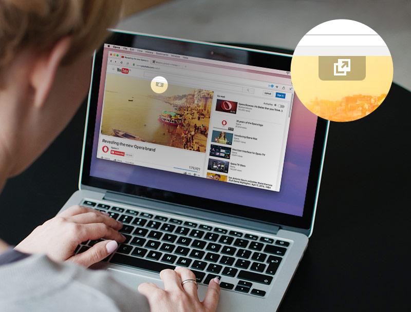 В настольной версии Opera появилась возможность «выносить» видео из браузера