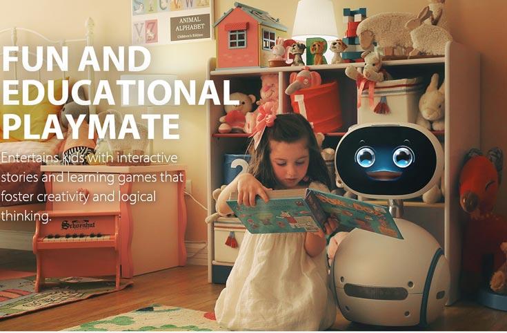 Домашний робот-компаньон Asus Zenbo оснащен голосовым интерфейсом