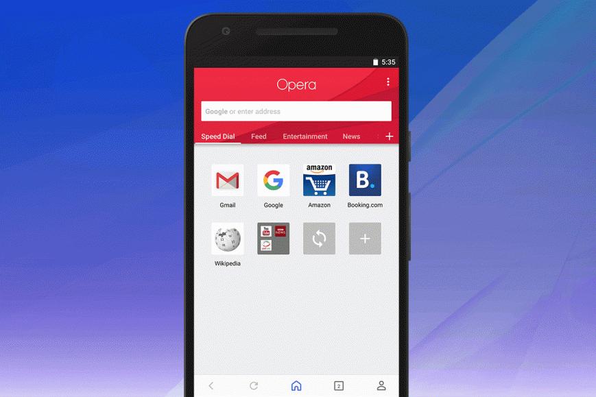 Opera для Android пережила крупный редизайн