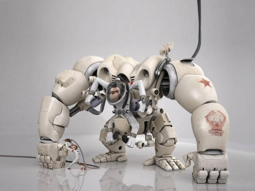 Будущее: роботов учат группироваться и падать