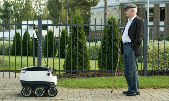 Основатели Skype представили сервис доставки товаров, в котором будут задействованы самоходные колесные роботы