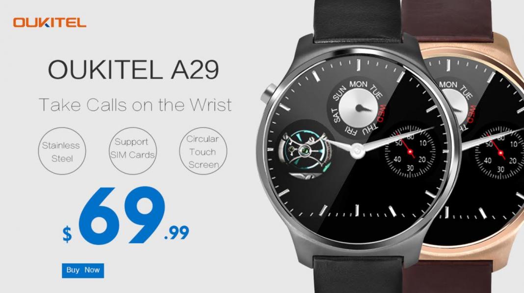Oukitel A29 - умные часы ценой $70 с поддержкой голосовых звонков