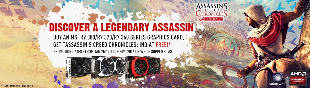 AMD комплектует игрой Assassins Creed Chronicles: India видеокарты Radeon R9 380/R7 370/R7 360