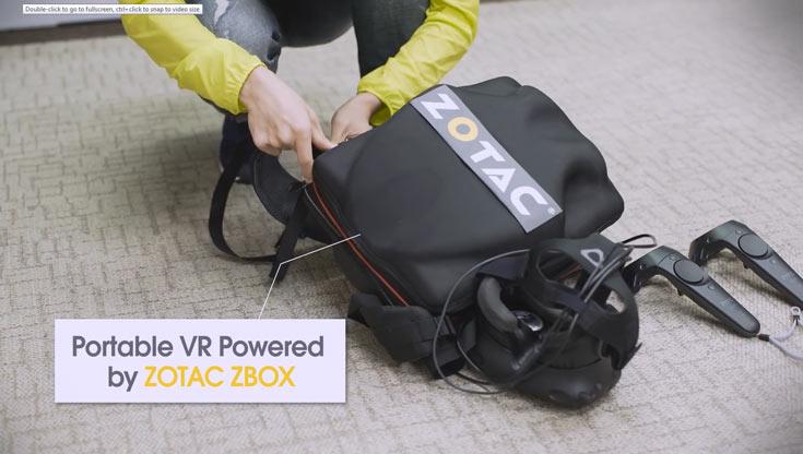 Zotac предлагает мини-компьютер в рюкзаке для виртуальной реальности