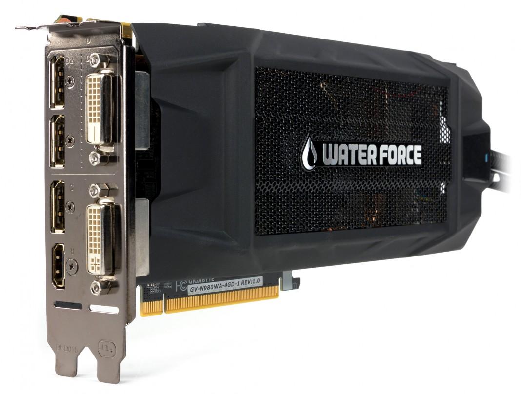 3D-карта Gigabyte GeForce GTX 980 WaterForce оснащена жидкостной системой охлаждения и разогнана производителем