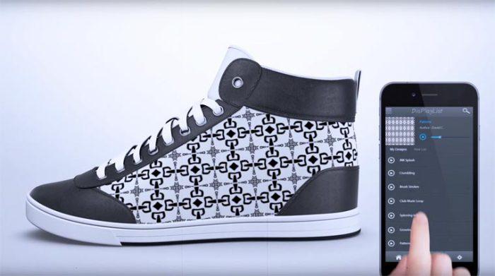 Кроссовки ShiftWear оснащены гибкими цветными дисплеями E-Ink