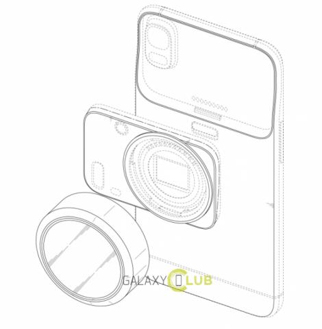 Samsung патентует смартфон с отсоединяемой камерой