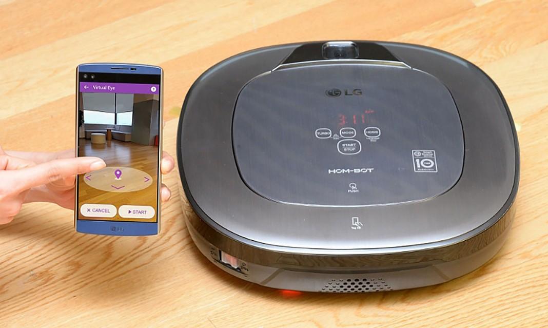 Роботизированный пылесос LG Turbo+ будет охранять дом
