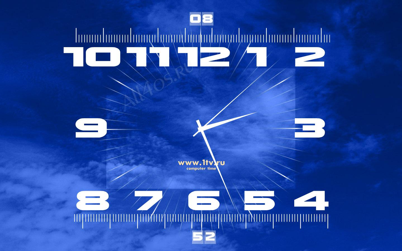 Большие часы показывают время системных часов, а другие пять, время в пяти городах; лос-анжелес, нью-йорк, лондон, дубай и токио.