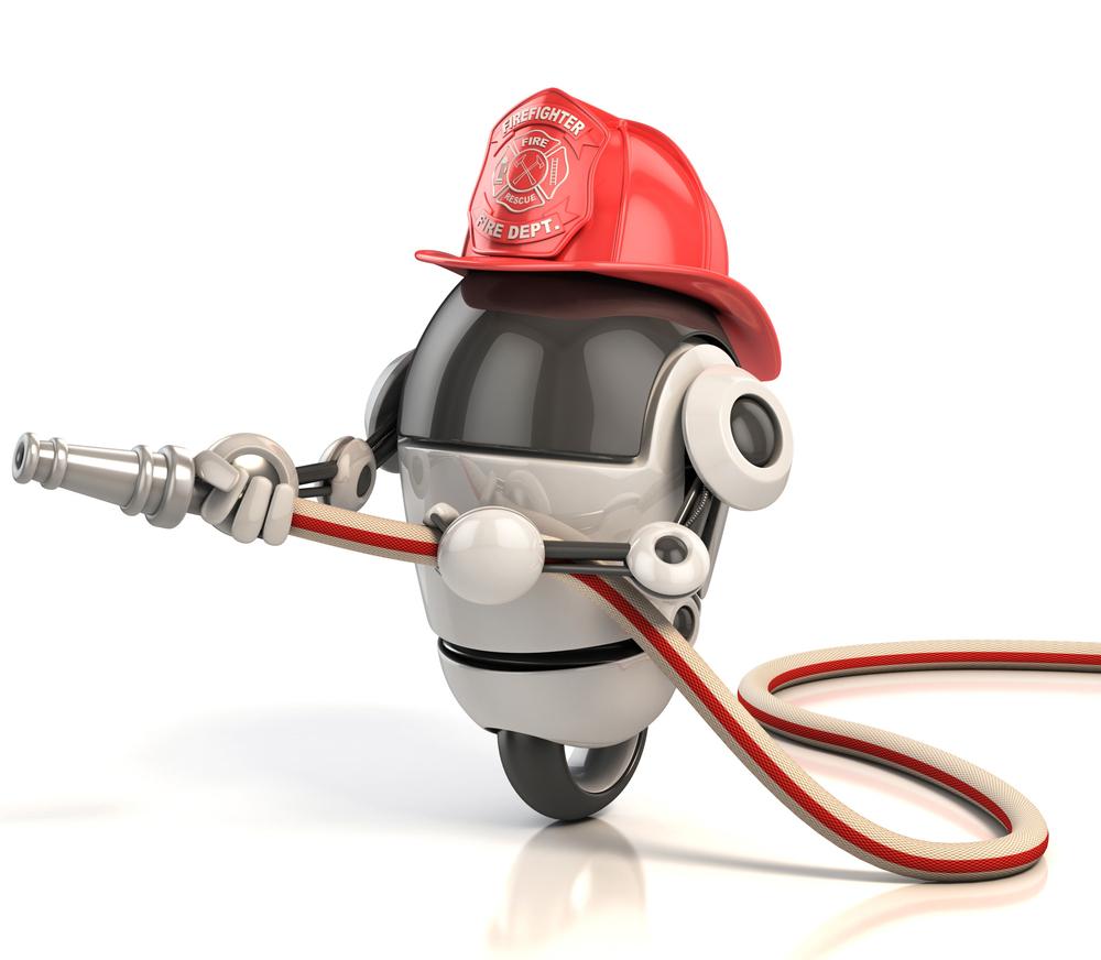 Робот становится флотским пожарным