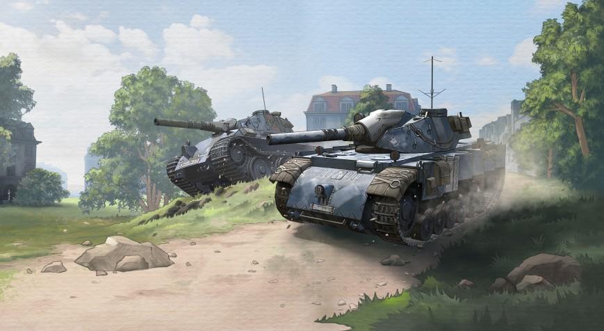В World of Tanks появились танки-монстры на потусторонних полях сражений