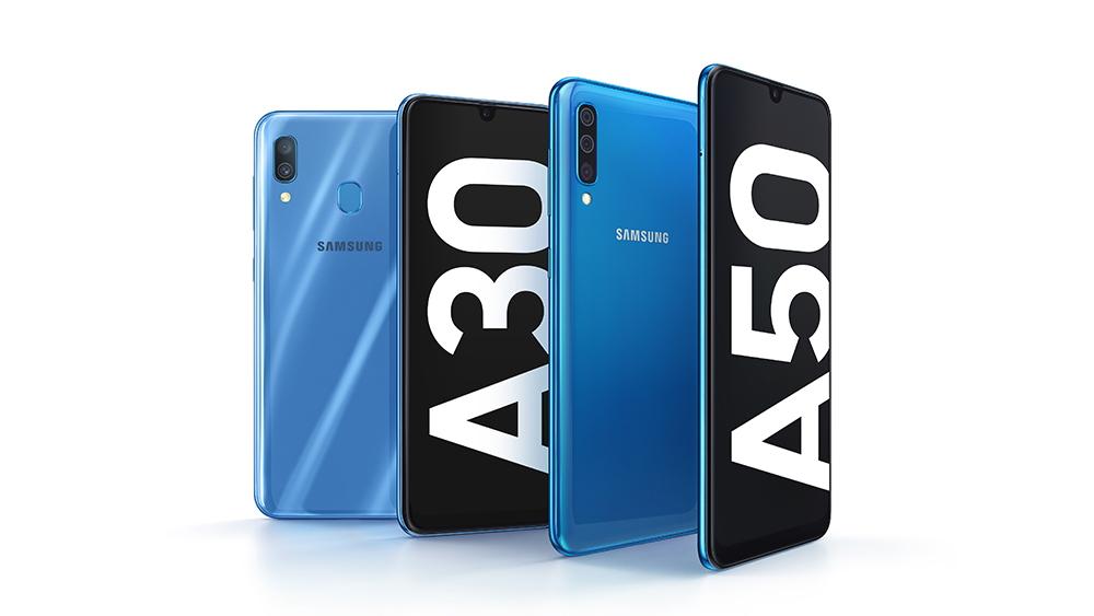 Samsung представила продвинутые смартфоны Galaxy A50 и A30 среднего уровня